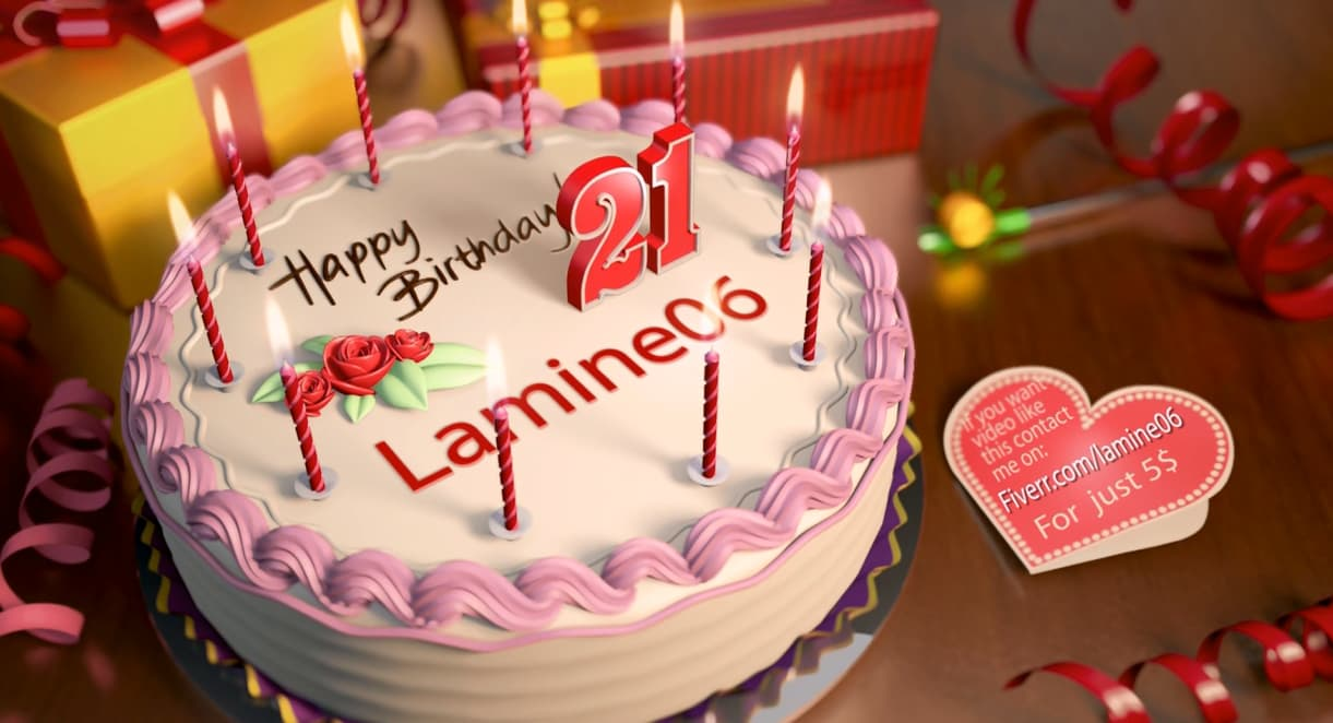 Strange Make A 3D Happy Birthday Cake Video With Music Background By Lamine06 Funny Birthday Cards Online Eattedamsfinfo