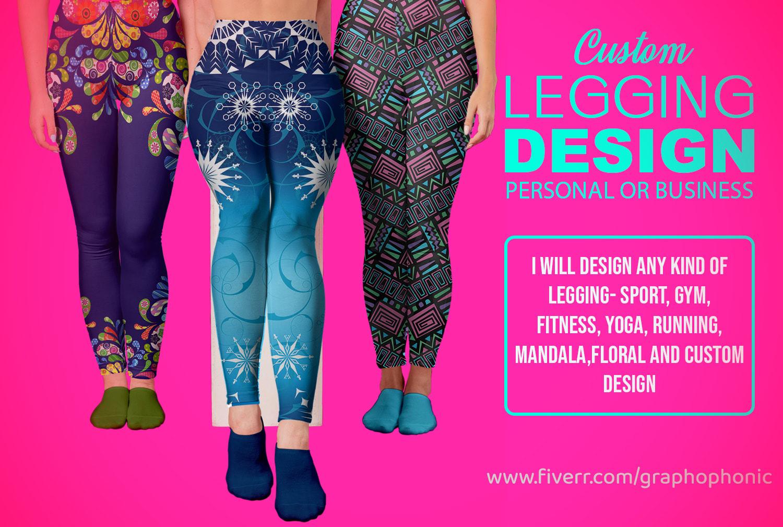 Design Custom Floral Sports Trendy Leggings Or Yoga Pants By Graphophonic