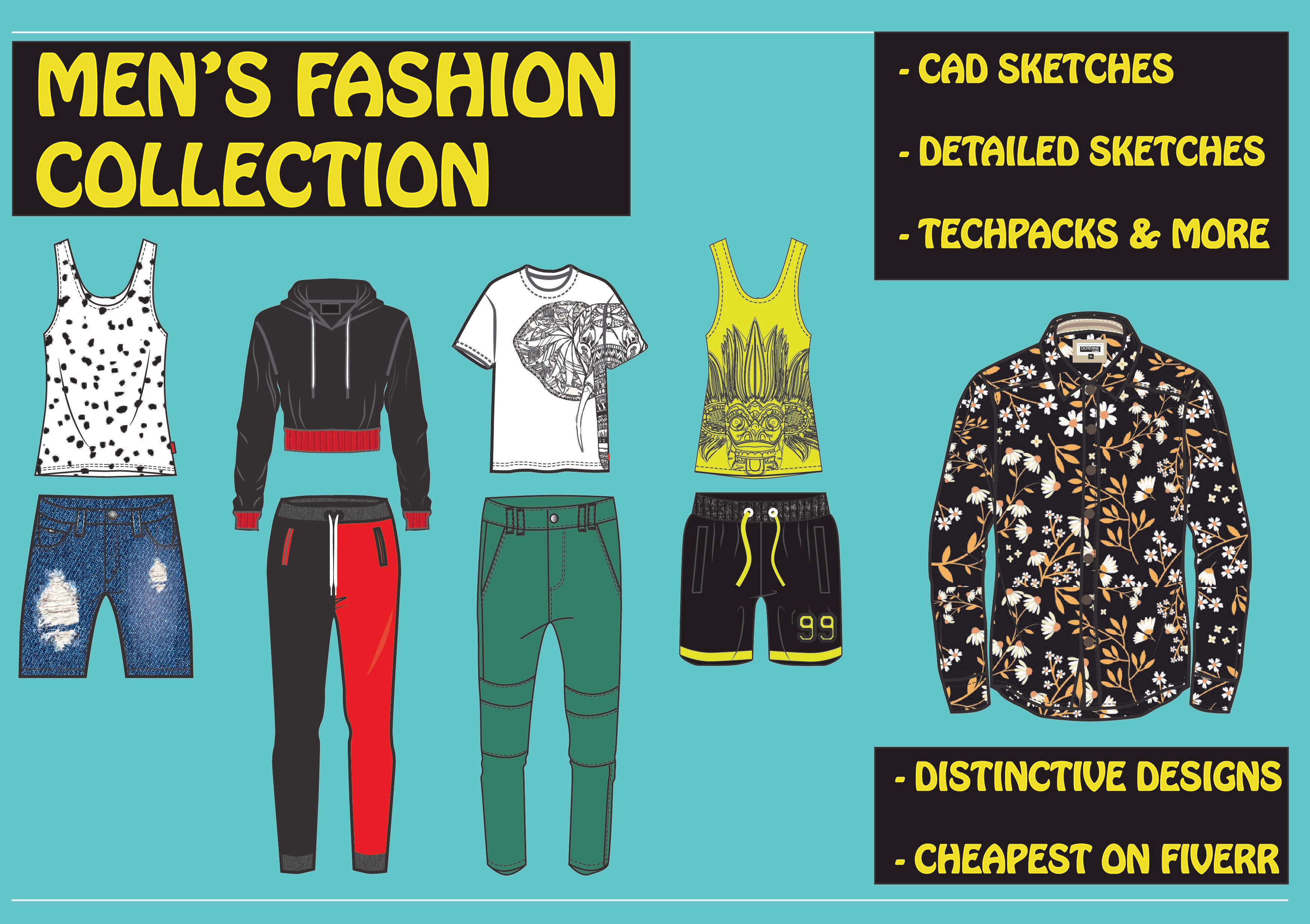 Be Your Fashion Designer Creating Fashion Illustration For Mens Wear By Dinushi 94