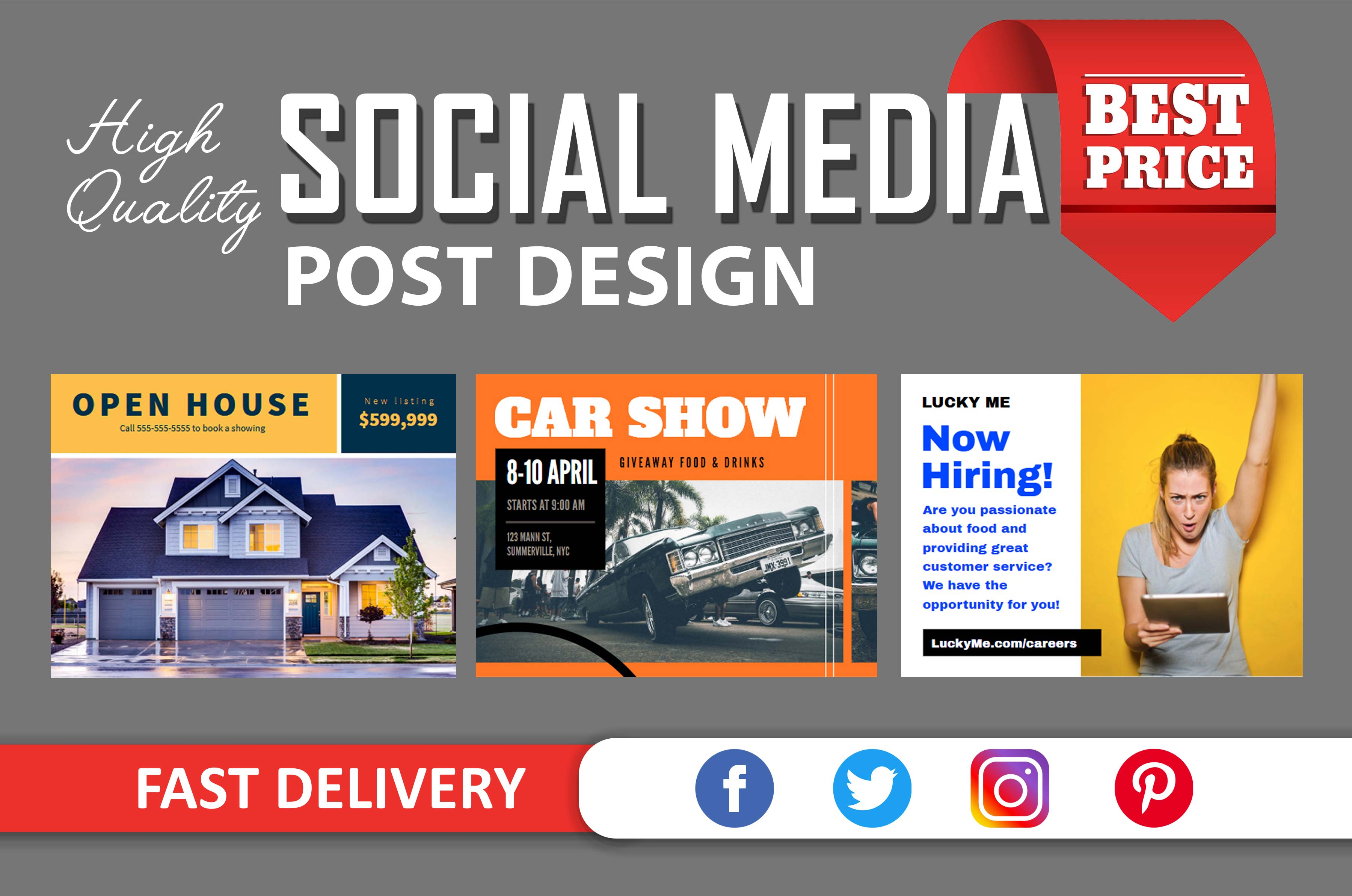 Do Social Media Post Design For Facebook Instagram Twitter Pinterest By Graphicexpert B