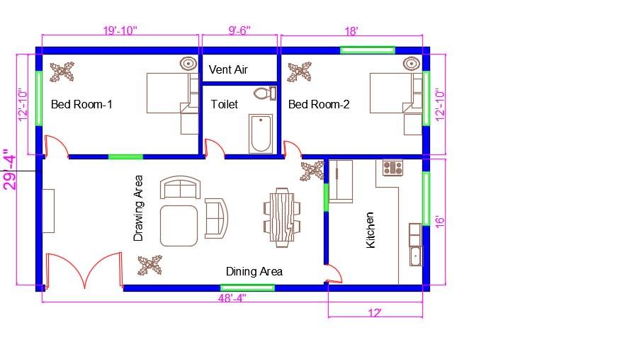 Draw A Basic Floor Plan By Zahidibrar Fiverr