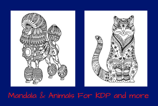 Create 25 Animals Mandala Coloring Book For Adults Kdp By Artgraphic1  Fiverr