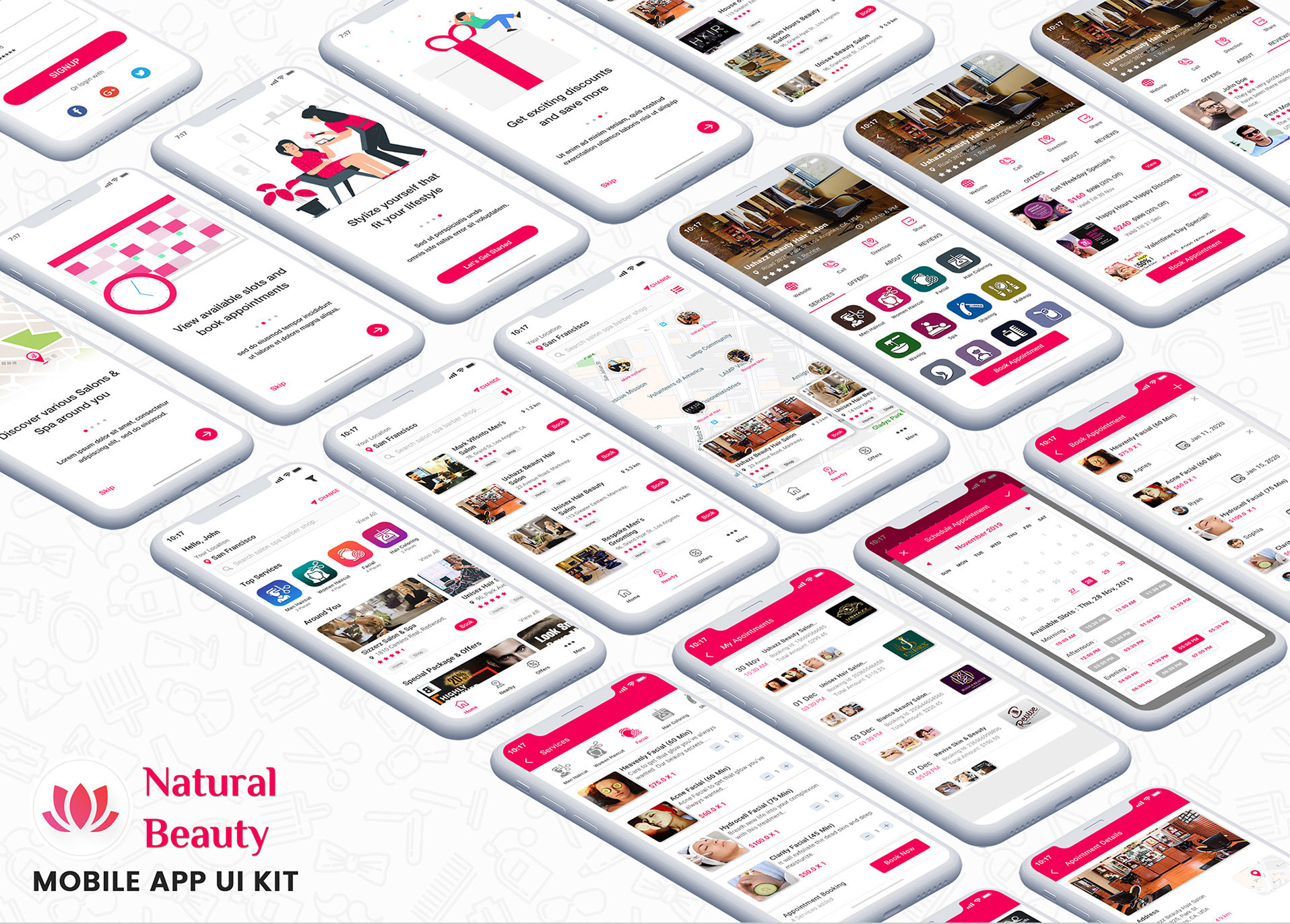Provide High Quality Design For Salon App By Appinnovation