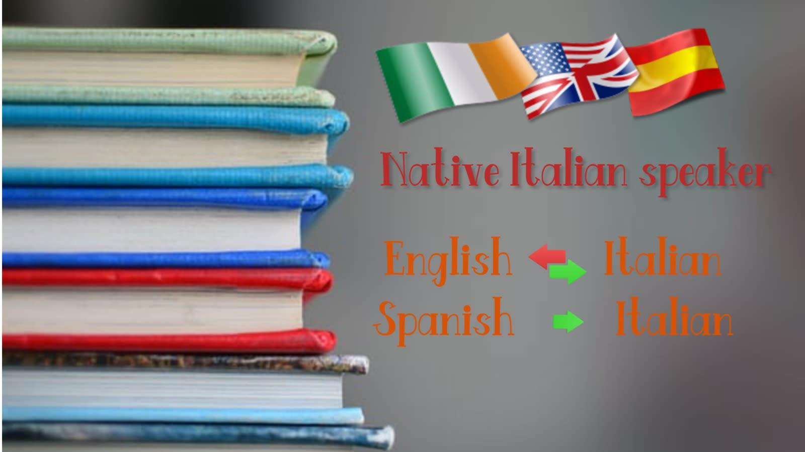 Translate italian to english and english or spanish to italian by  Fluentranslator