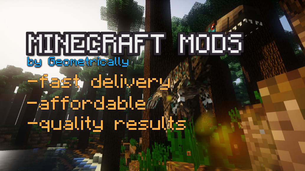 Make You A Custom Minecraft Mod For Forge Or Fabric By Geometrically