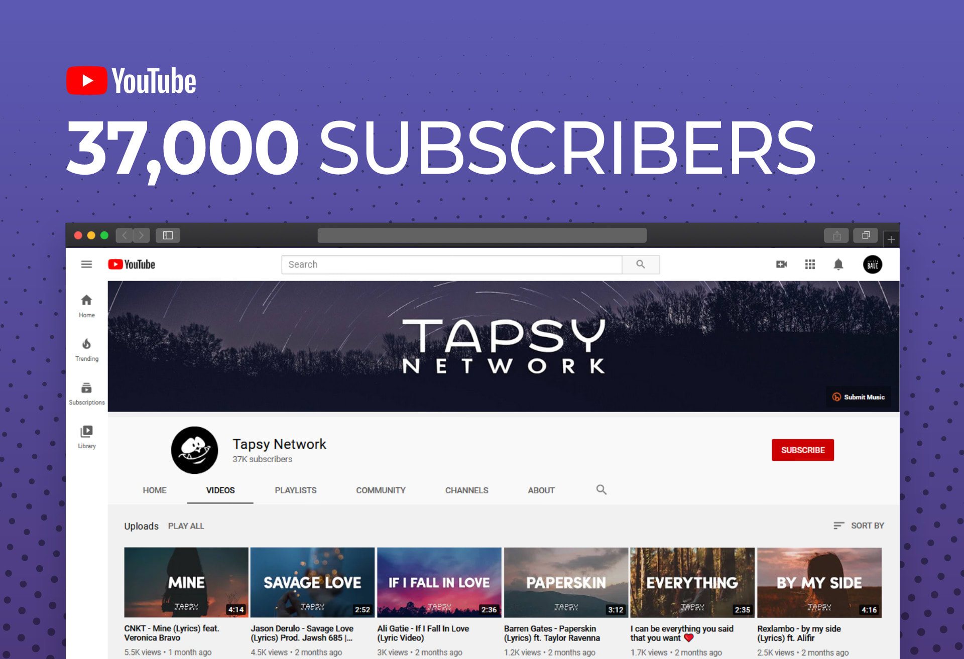 Promote Your Music On My Youtube Channel By Tapsynetwork