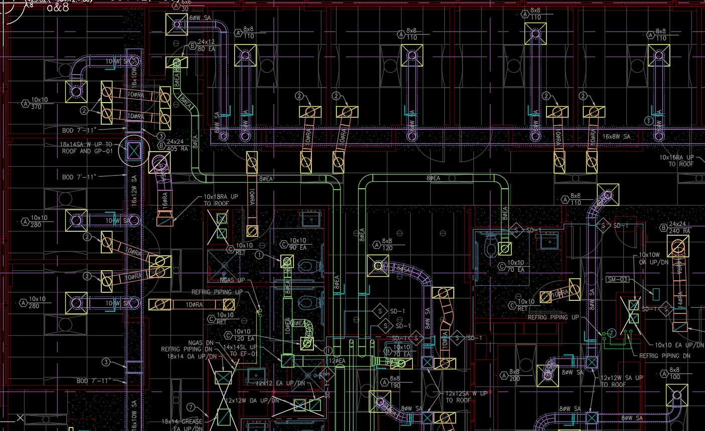 Do 2d 3d drawing using autocad hvac plans and calc by Omarsarmiento18 |  Fiverr | Hvac Drawing Dwg |  | Fiverr