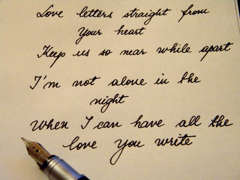 i love writing letters