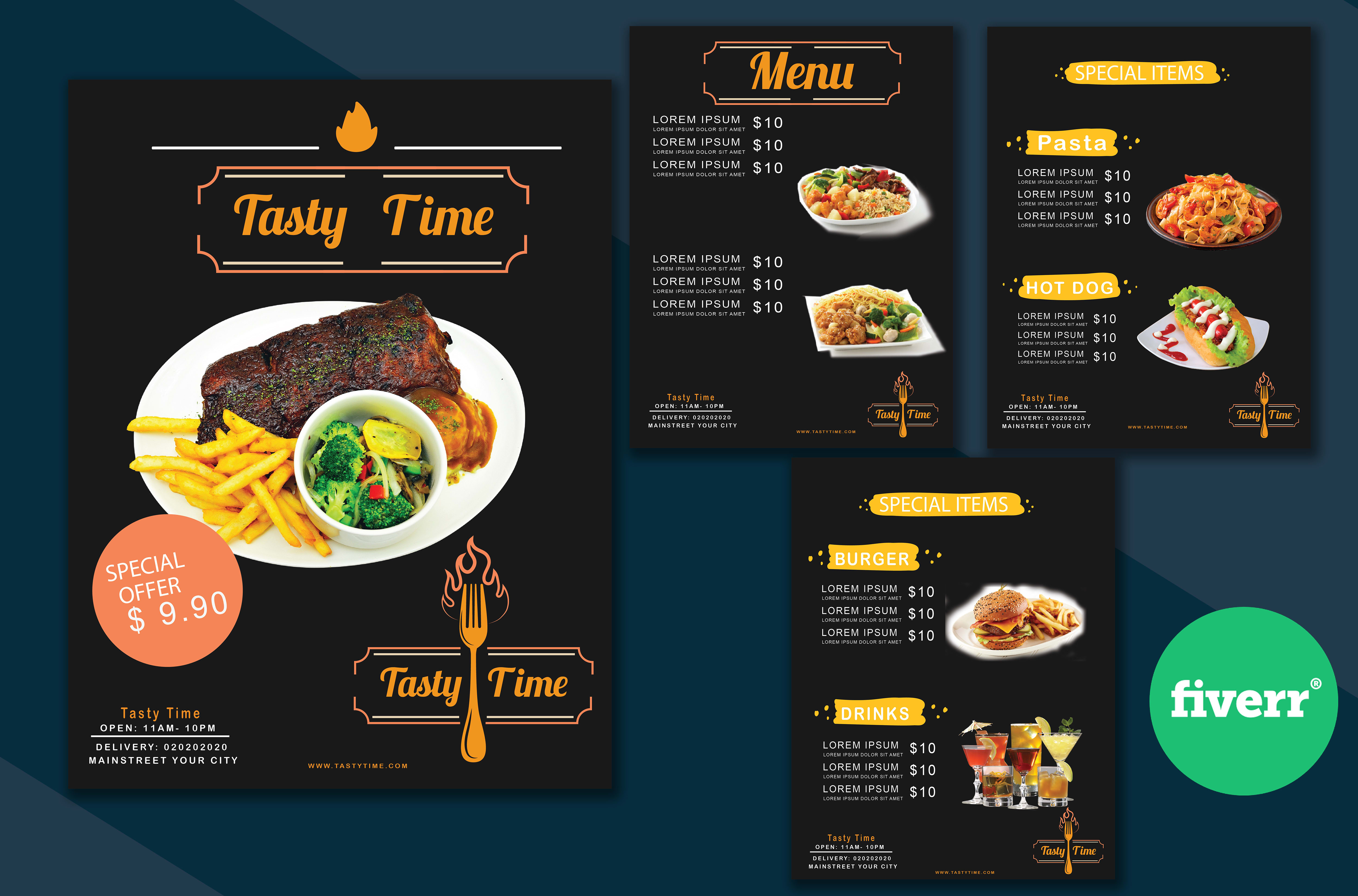 Design Food Menu Restaurant Menu By Hasib971