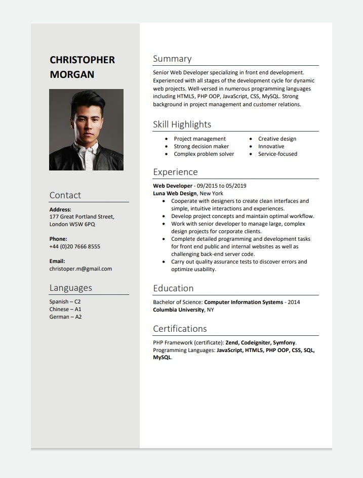 Make Resume For Your New Career It Is For Fresher And Also Experienced Ones By Faiz 1