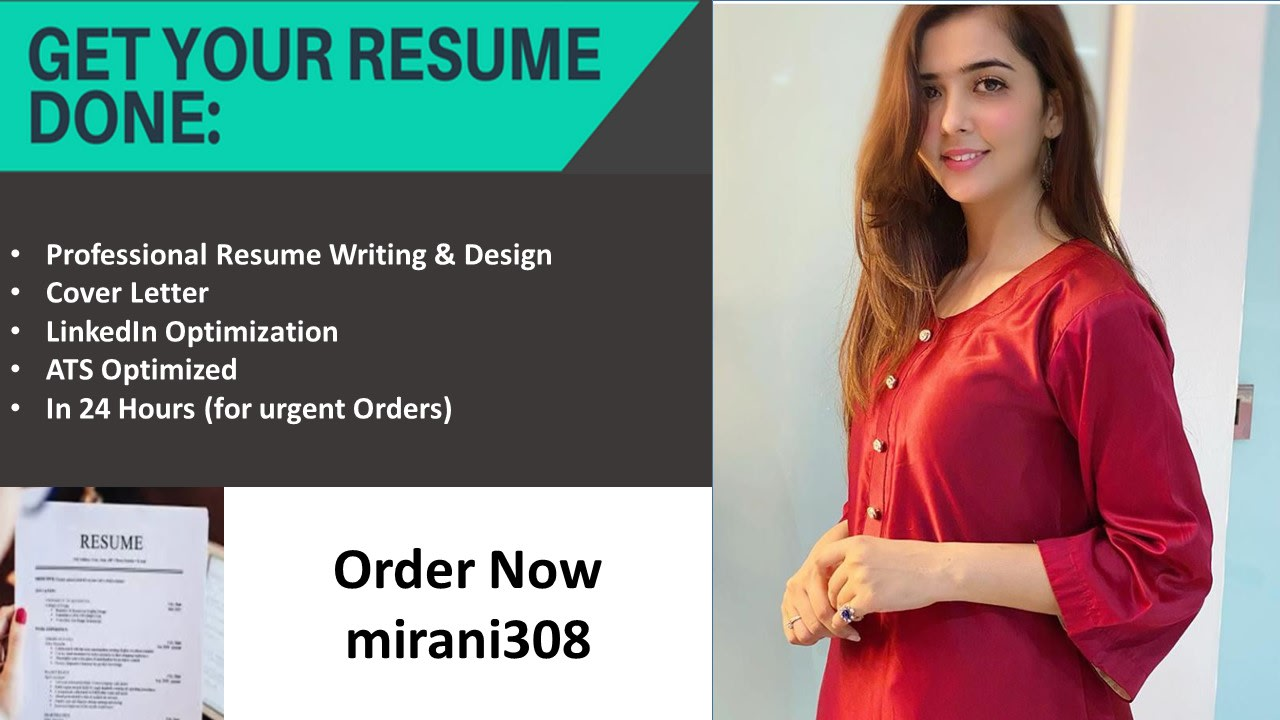 Provide Professional Resume Writing And Cover Letter Writing By Mirani308 Fiverr