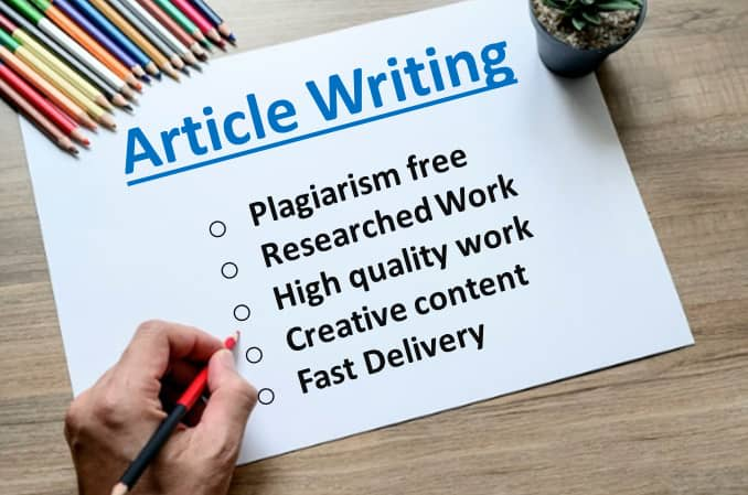 Write plagiarism free and copyscape passed seo article by Irtazaali01