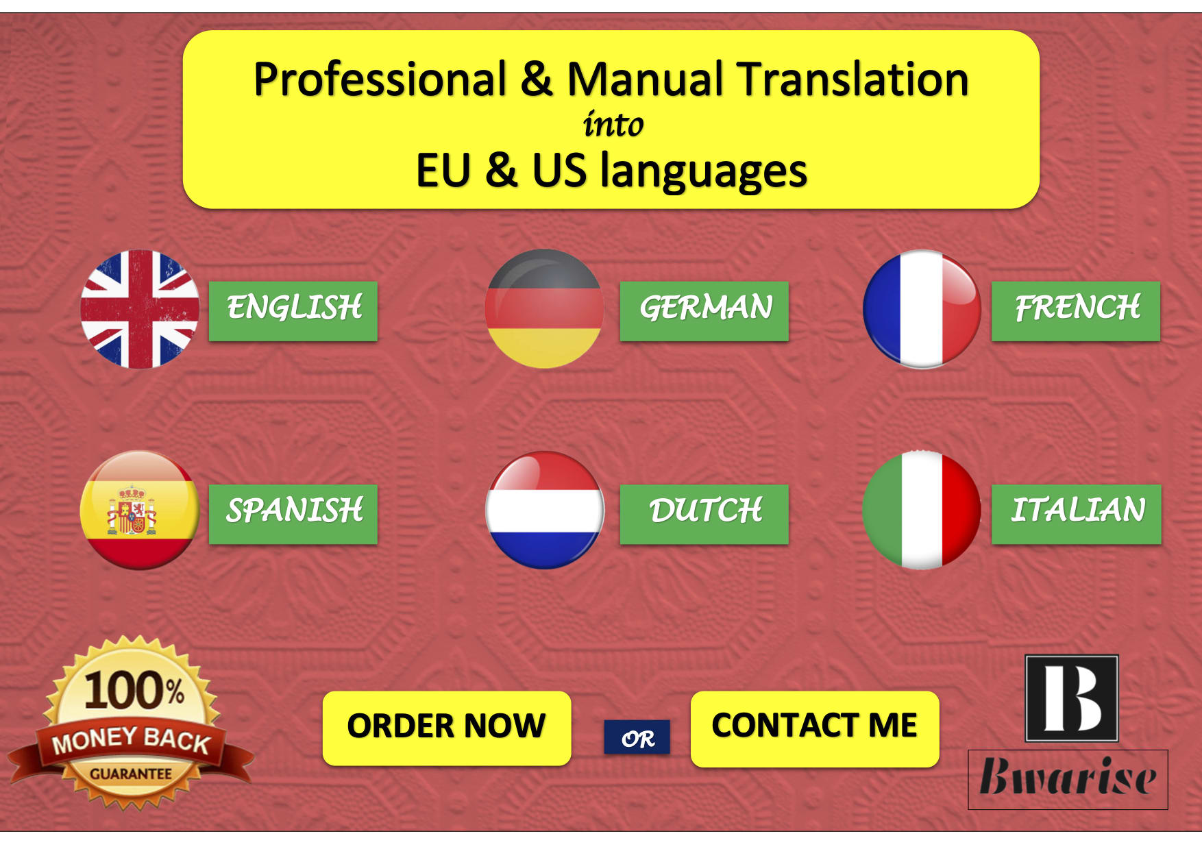 Translate To English German French Spanish Italian Dutch By Bwarise Fiverr