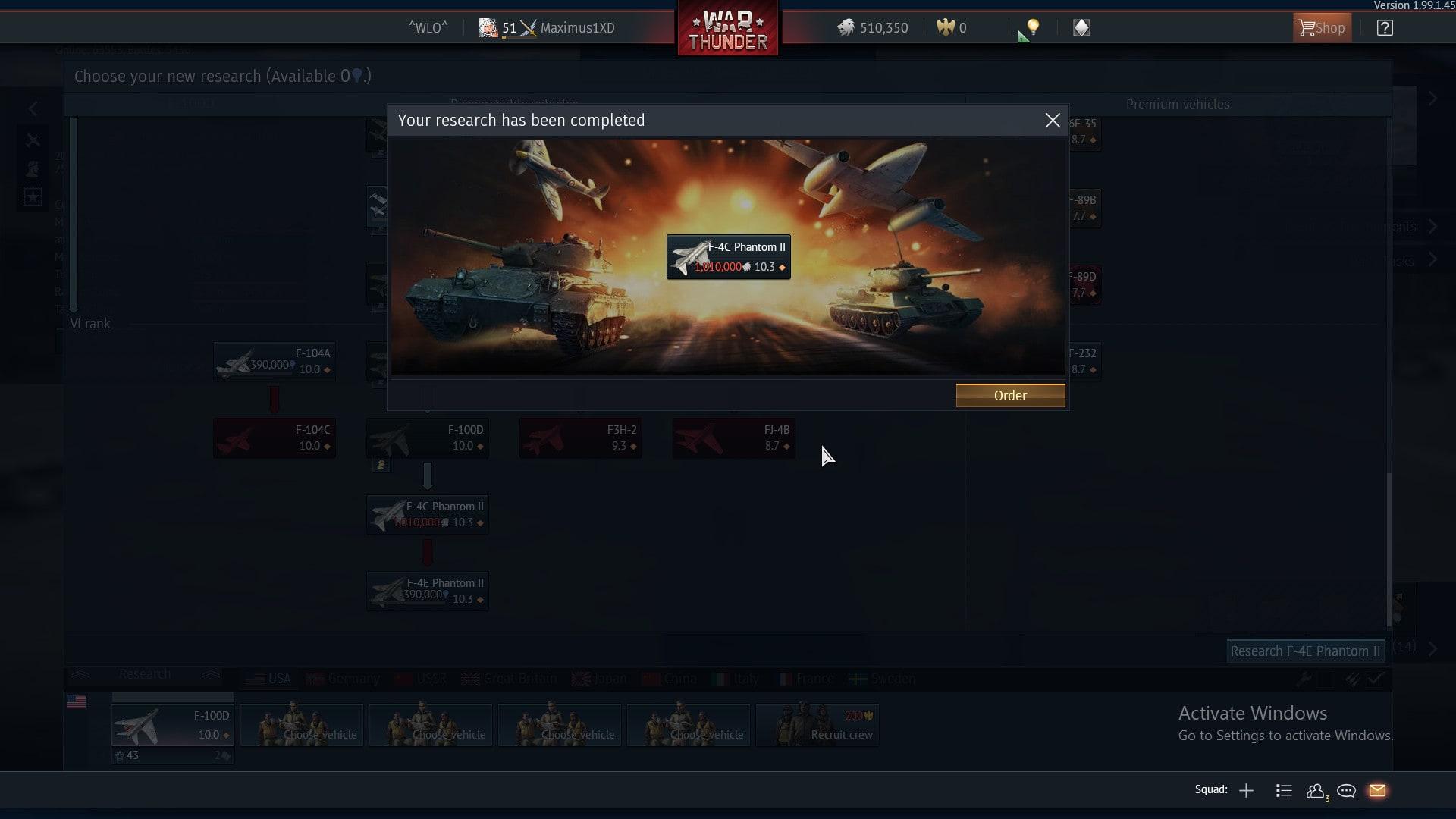 War Thunder Account