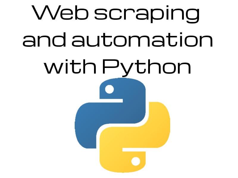 Web scraping programs