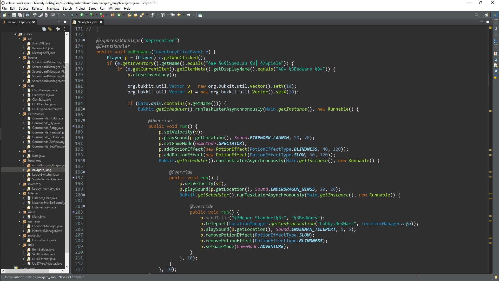 Source minecraft bedwars code plugin GitHub
