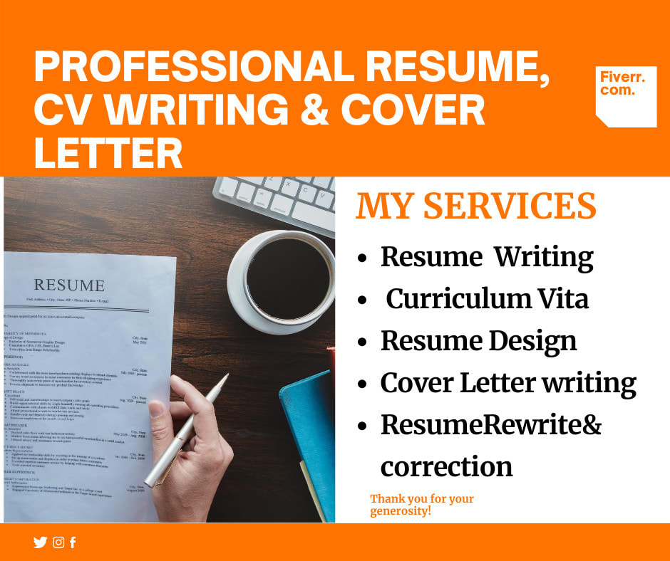 Provide Professional Cv Resume Writing Services And Cover Letter By Hinamasood000 Fiverr