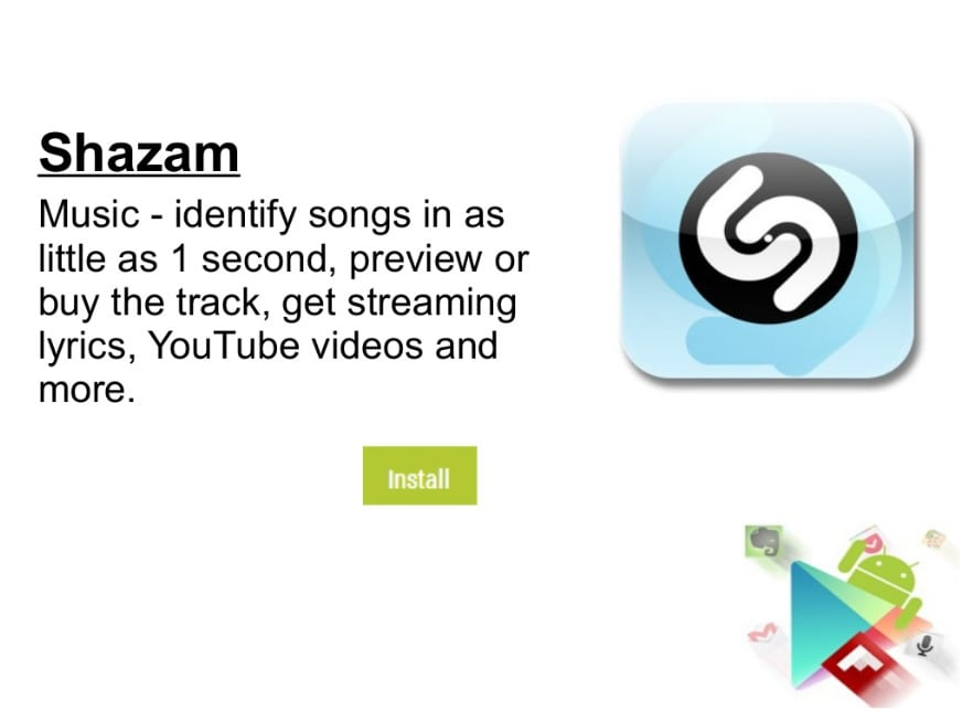 Shazam For More