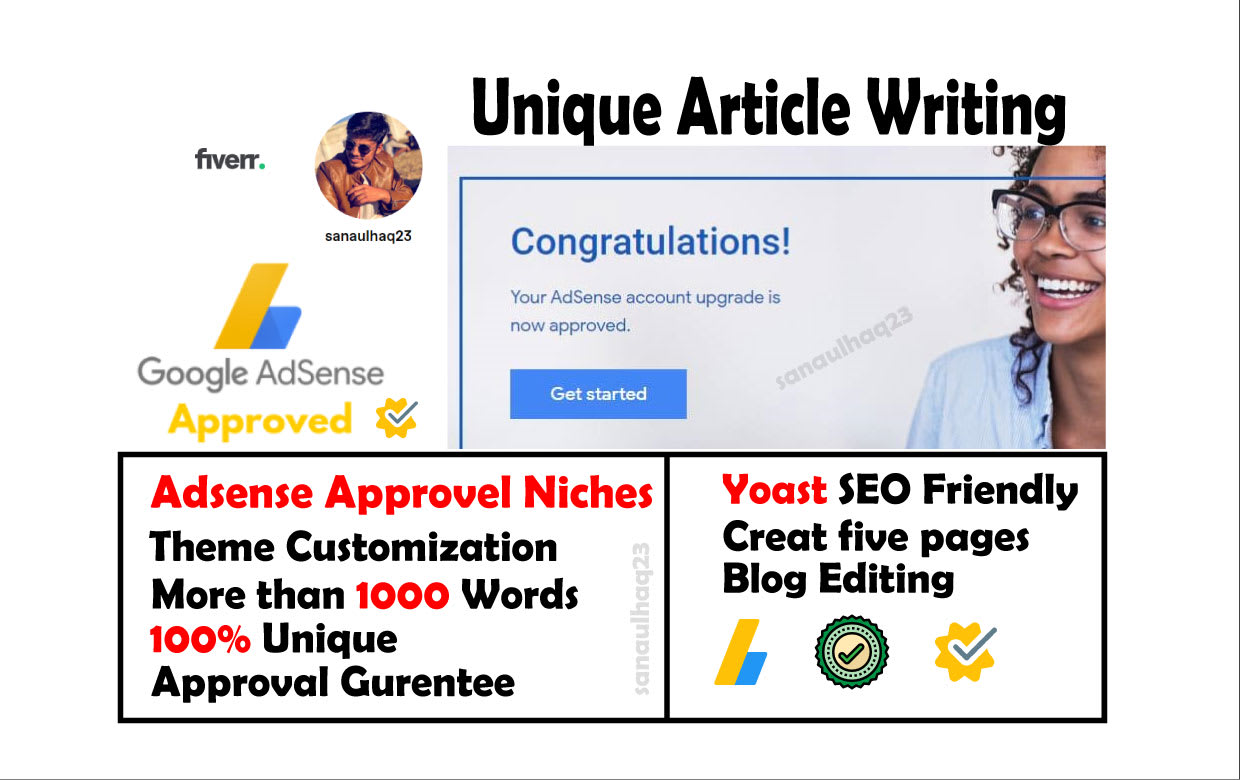write articles for google adsense approval