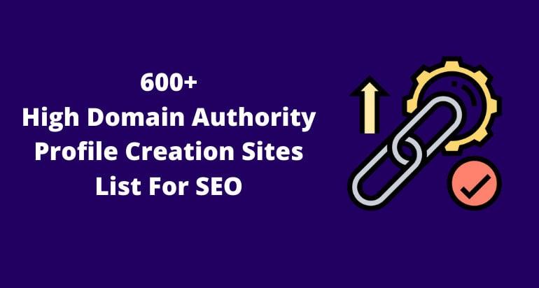 List for seo websites profile creation Top 400+