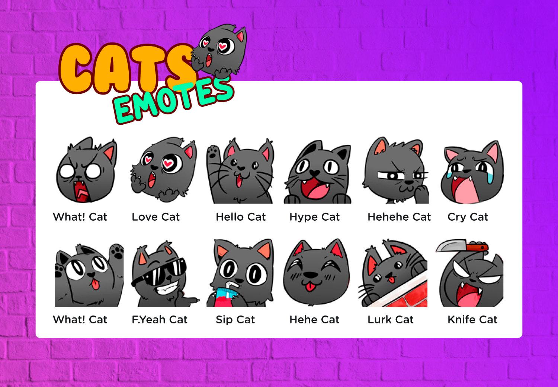 twitch emotes black cats