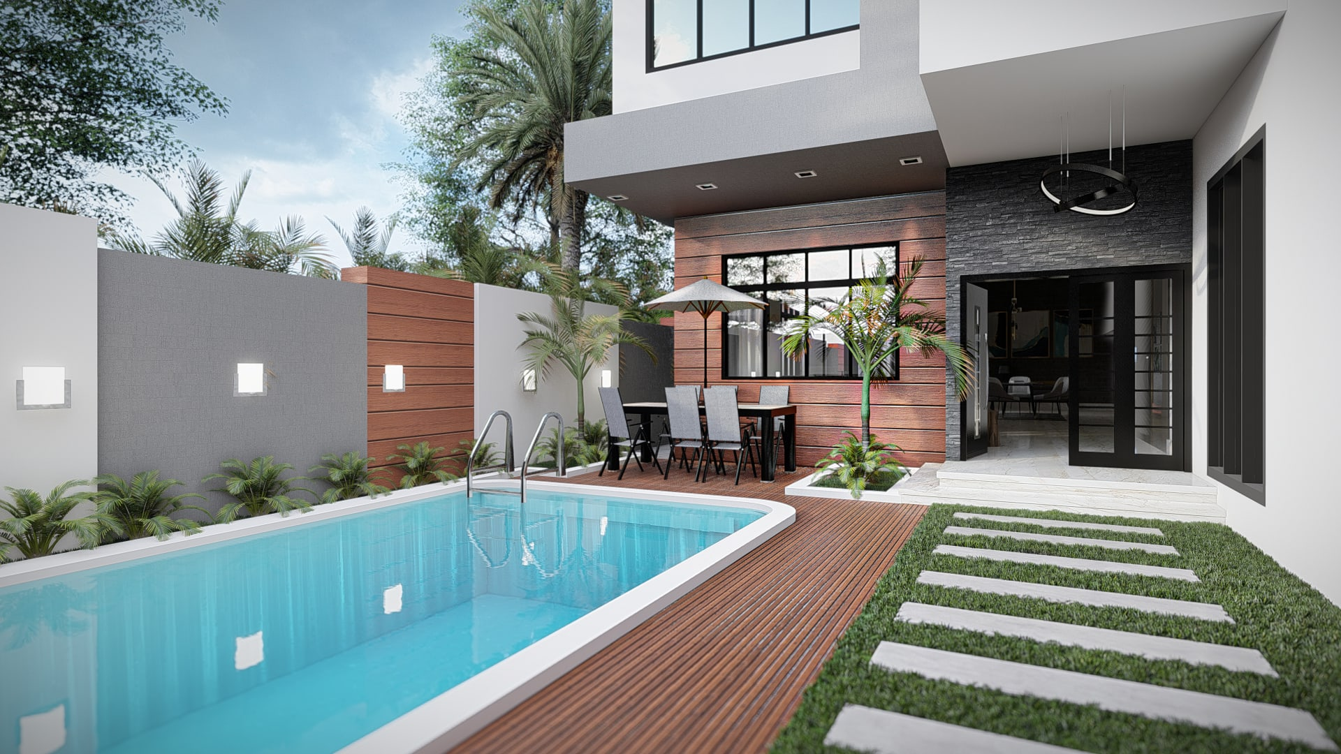 Design Or Renovate Your Landscape Backyard Pool And Garden By Oussamastudio