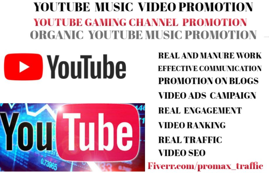 Promote Youtube Channel Music Video Promotion Gaming Channel By Promax Traffic