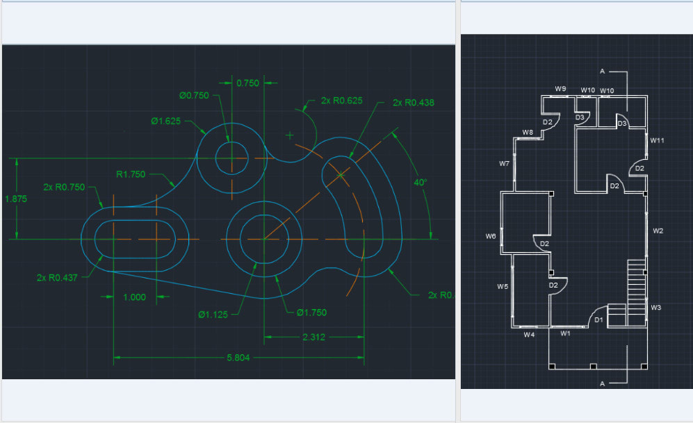 Create 2d Engineering Drawings And 2d Floor Plan By Dilonz Fiverr