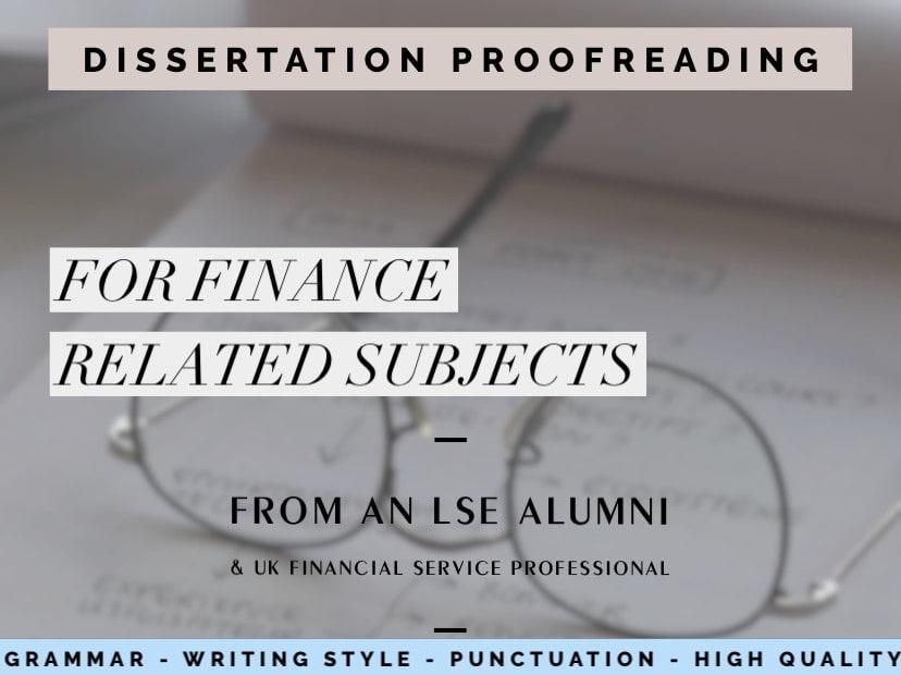 Proofreading service dissertation
