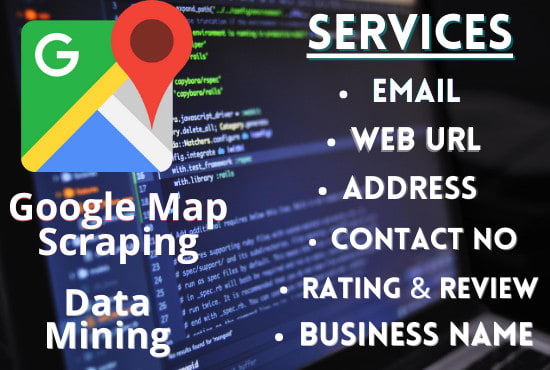 Provide the service of data extractor and google map data scraper by  Meraj29   Fiverr