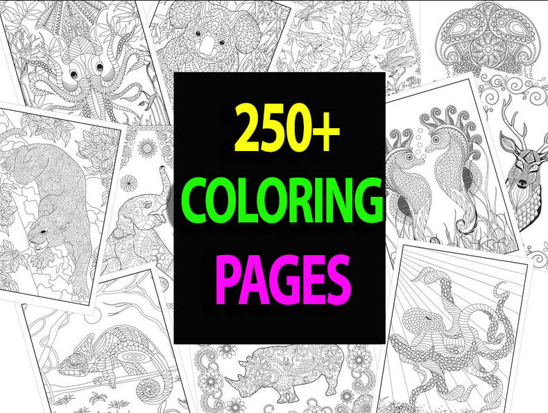 Give You 250 Animal Mandala Coloring Pages By Jack__labrik Fiverr