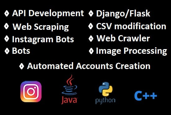 create bots, web scrapping and custom scripts