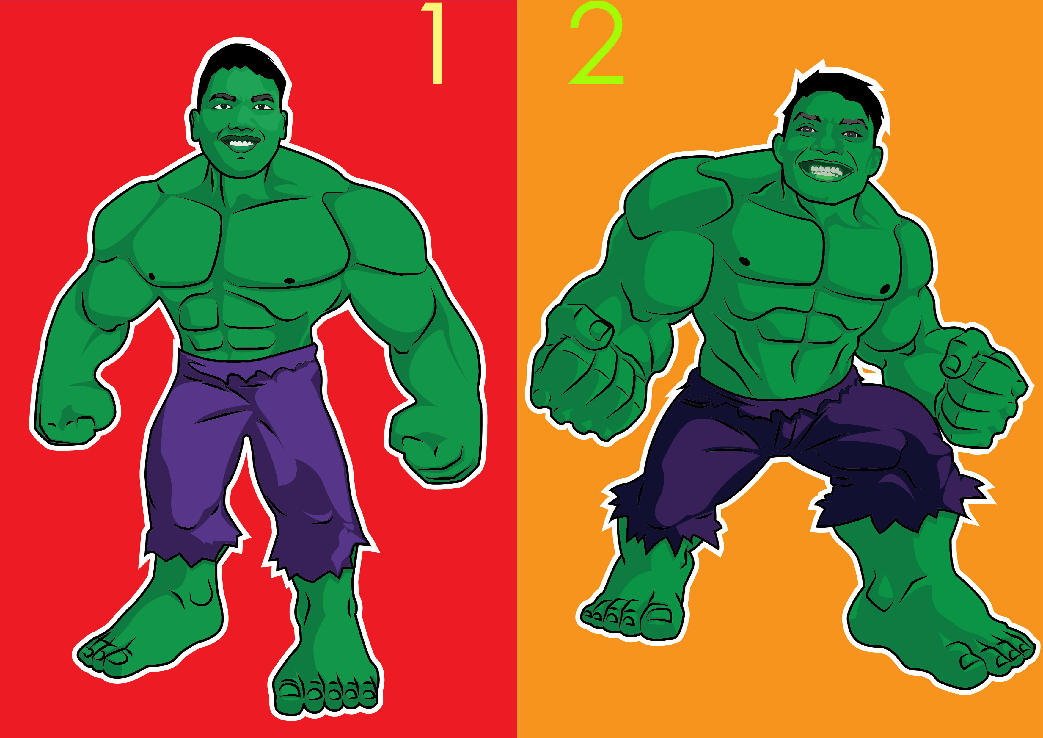 Draw Your Cartoon Become Hulk By Hindun Fiverr Follow along with us, and don't worry about making your drawing look exactly like ours. draw your cartoon become hulk by hindun