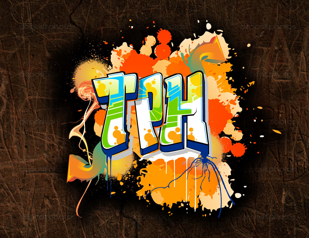 I will do graffiti fonts design in my own style
