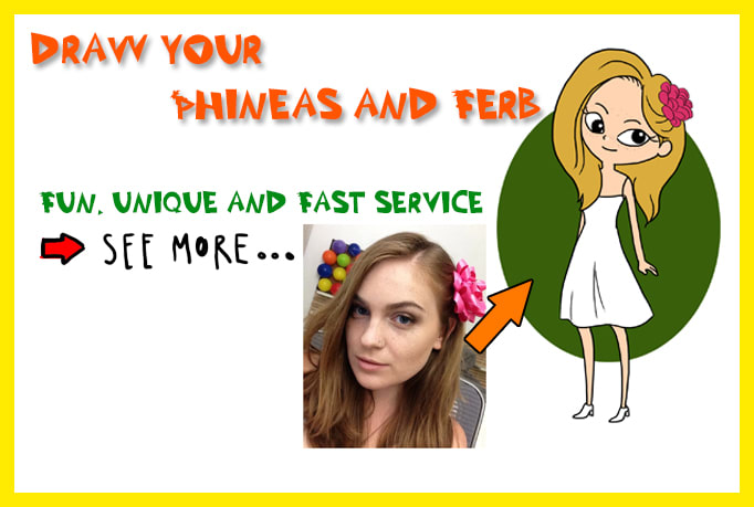 Draw You As A Phineas And Ferb Cartoon Character By Virtues