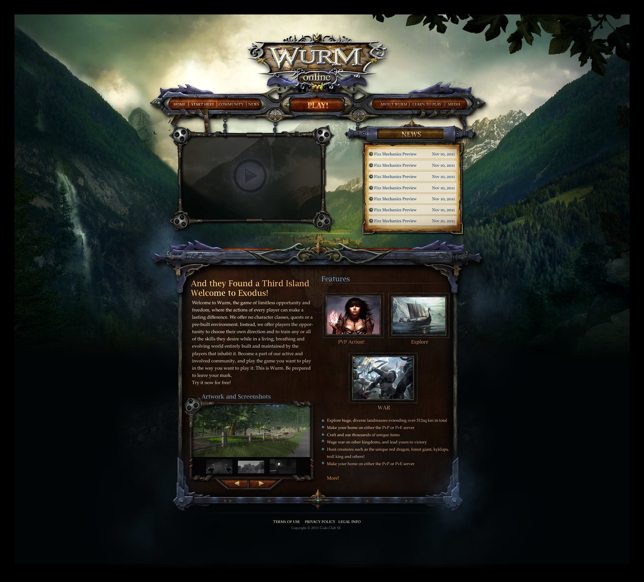 Design Your Games Website Page Or Thread Layout By Hollyao
