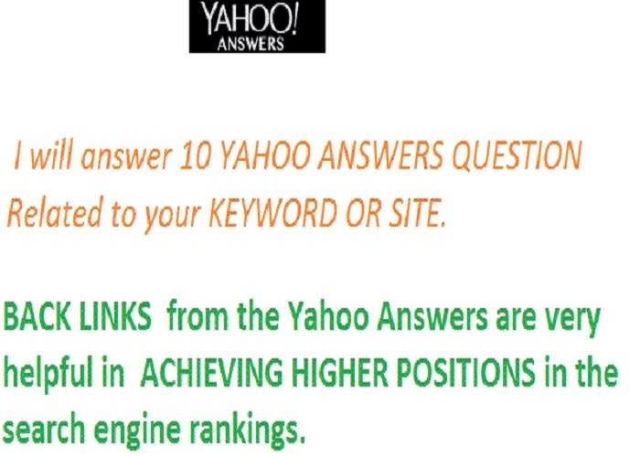 yahoo q and answer