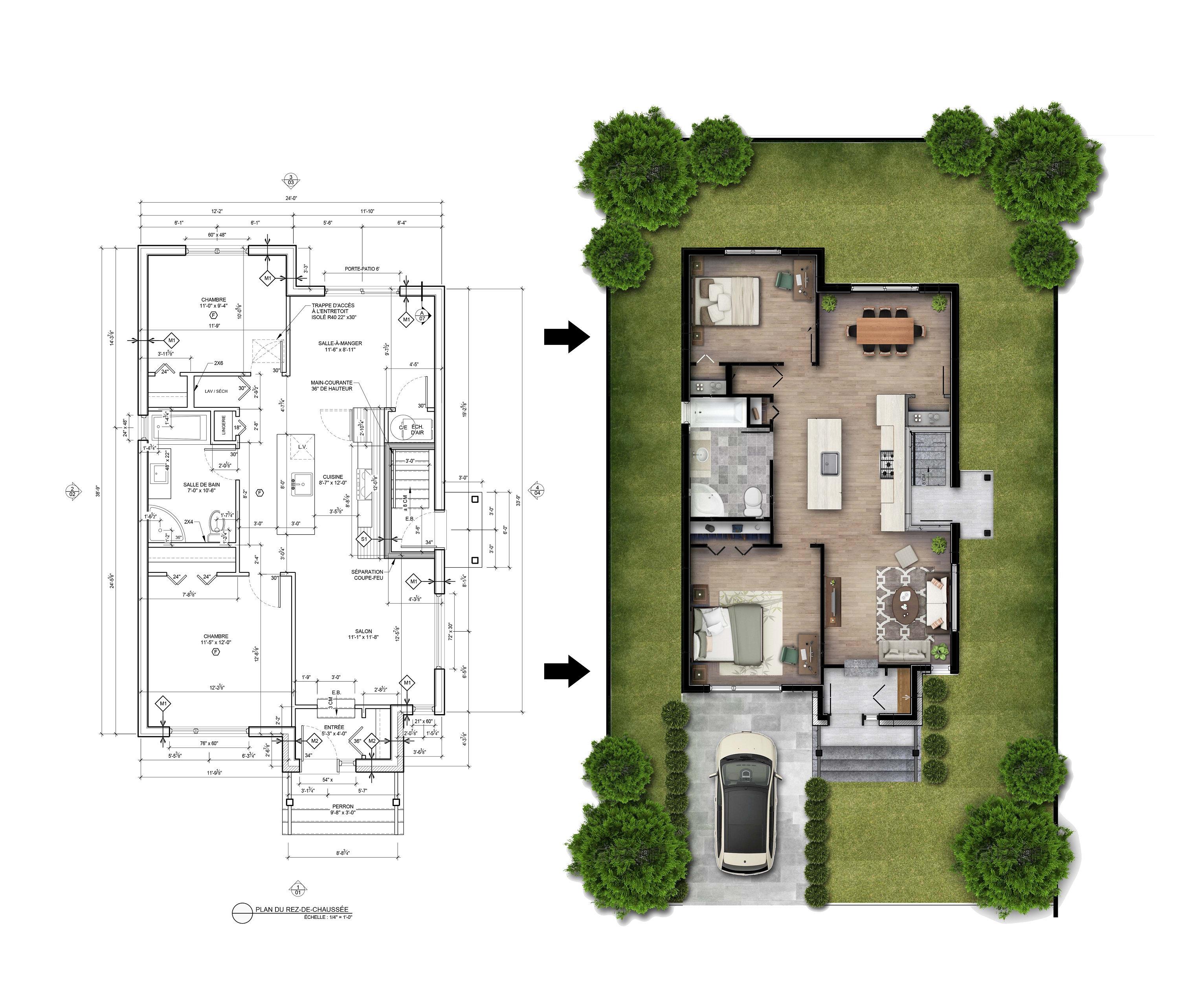 Render Your Floor Plans In Photoshop By Em Designs Fiverr