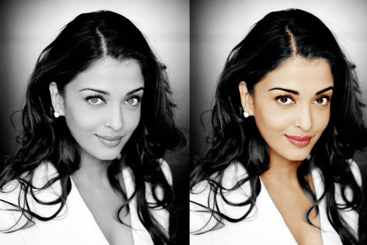 I will convert black and white photo into color