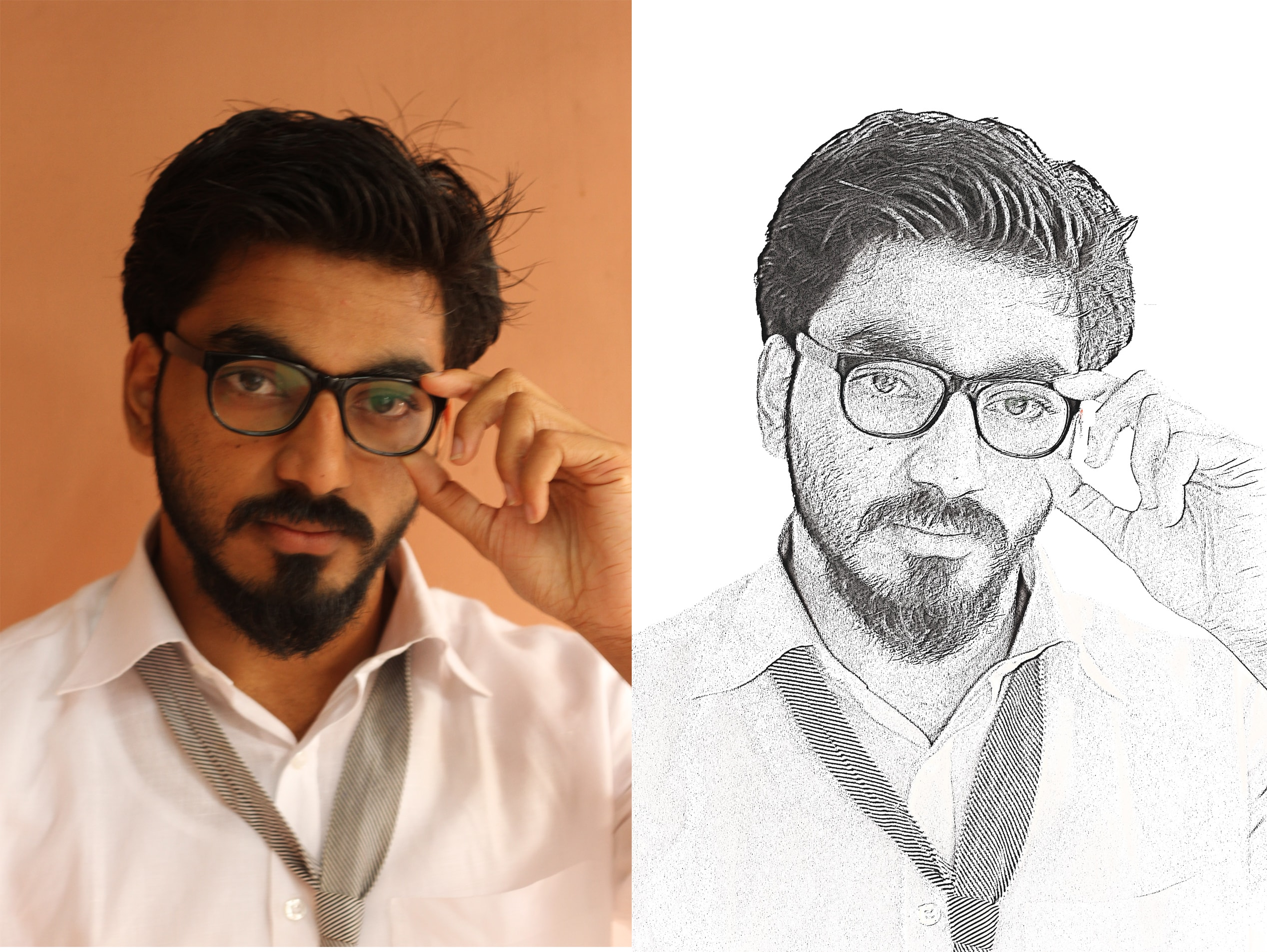 I will make a beautiful pencil sketch out of your photo