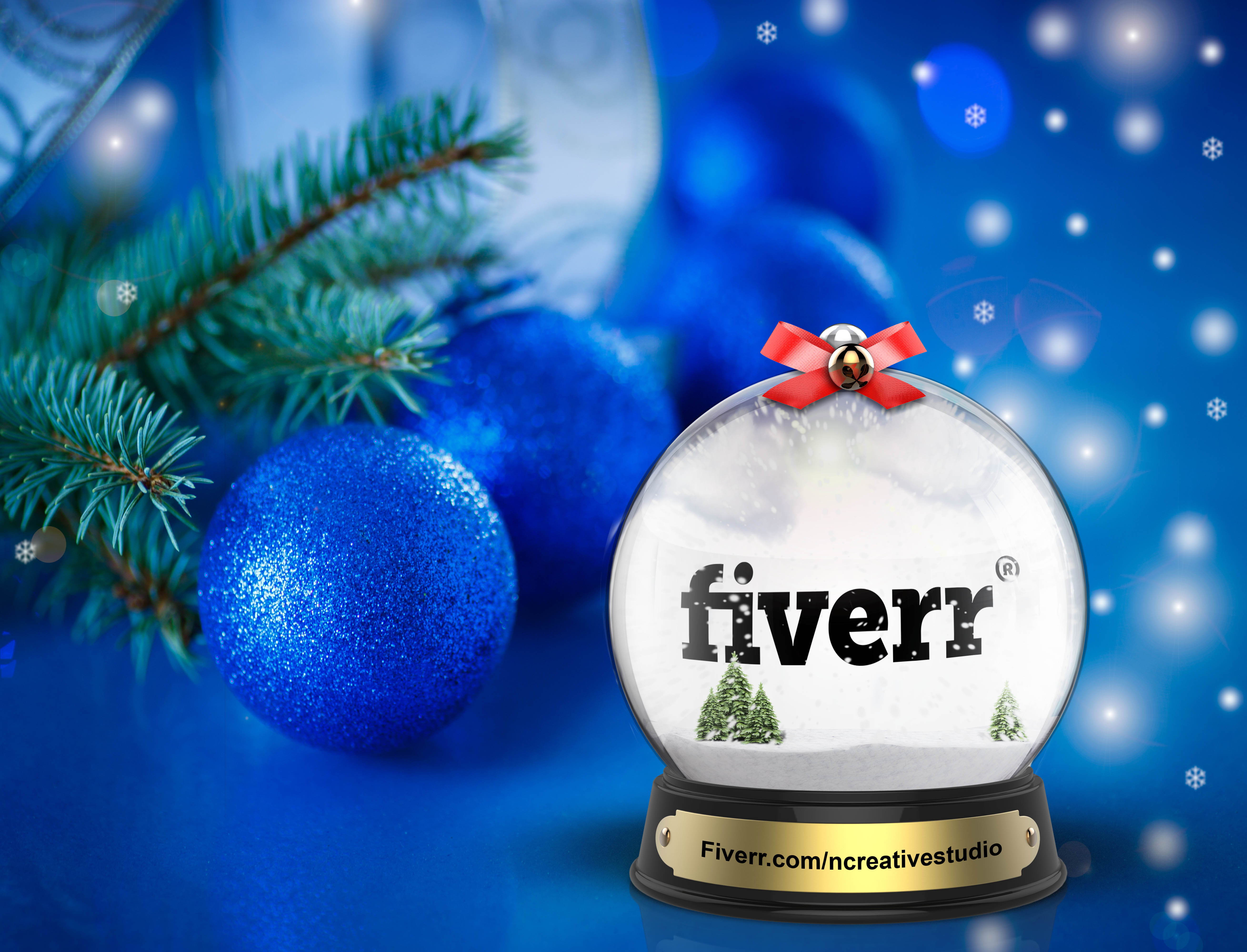 Put Your Logo Or Text On Christmas Snow Globe By Ncreativestudio