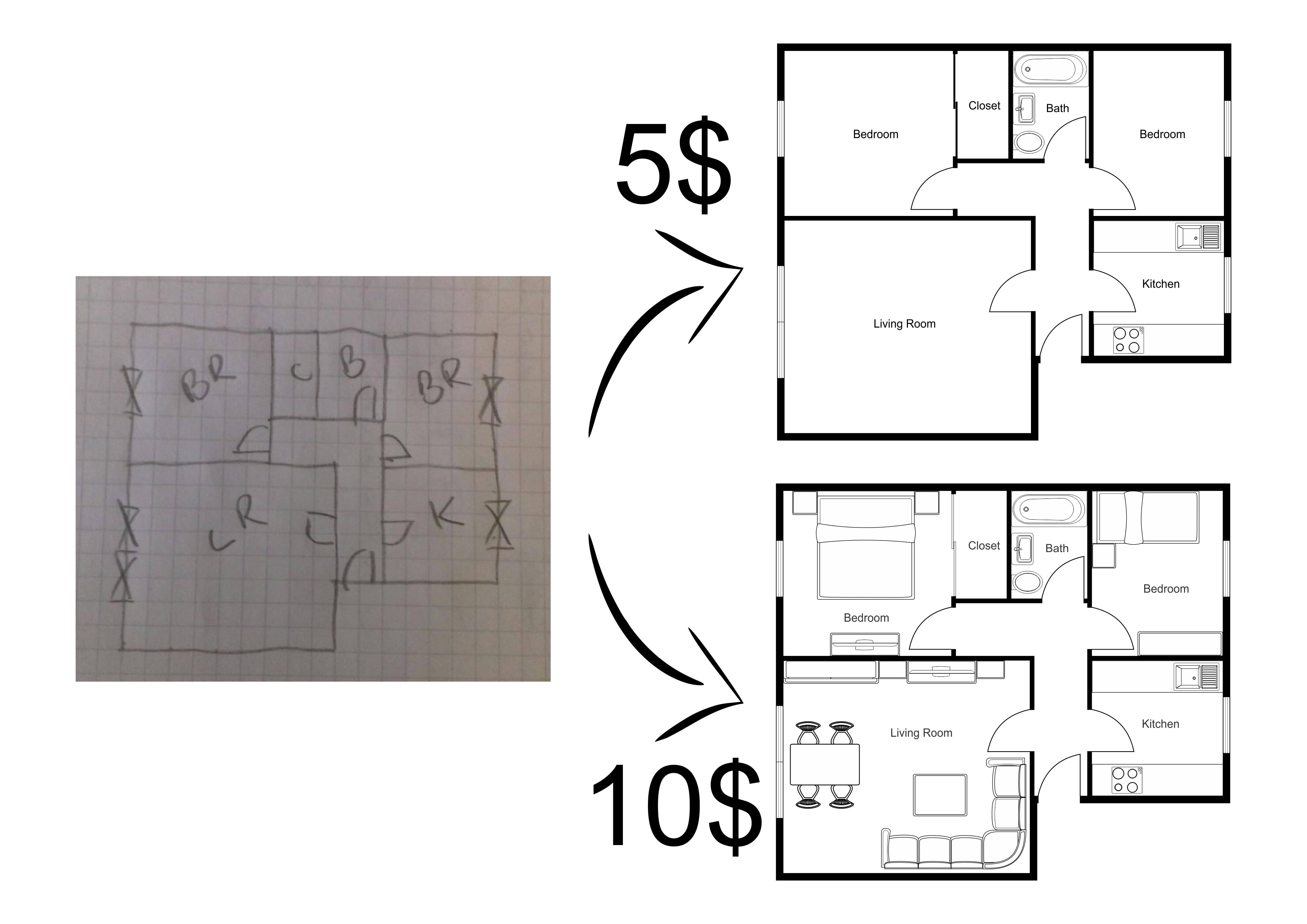 Draw A Floor Plan By Roplans Fiverr