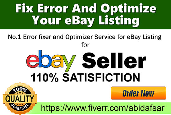 Do Ebay Listing Search Engine Optimization Seo By Abidafsar