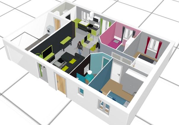 Maison En 3d Dessin