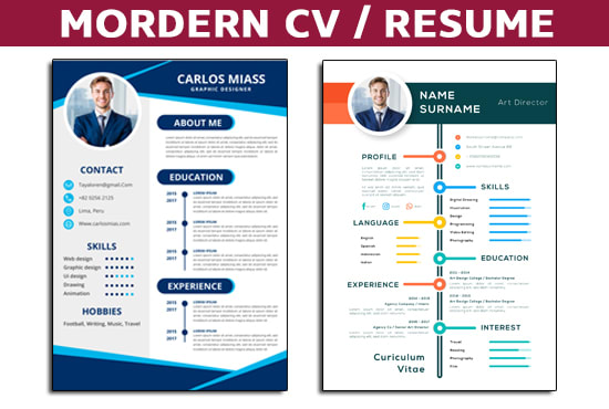 Design Modern Resume Cover Letter By Quotext Fiverr