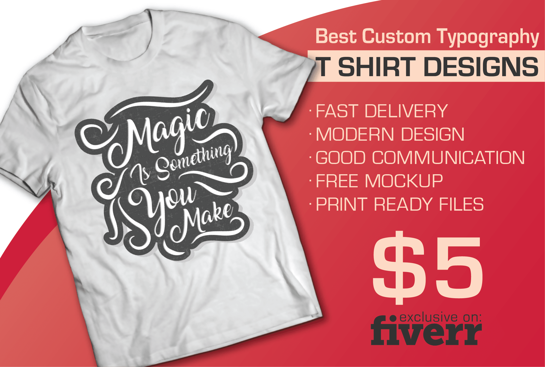 Create Custom Tshirt Design For Print By Bytesbee