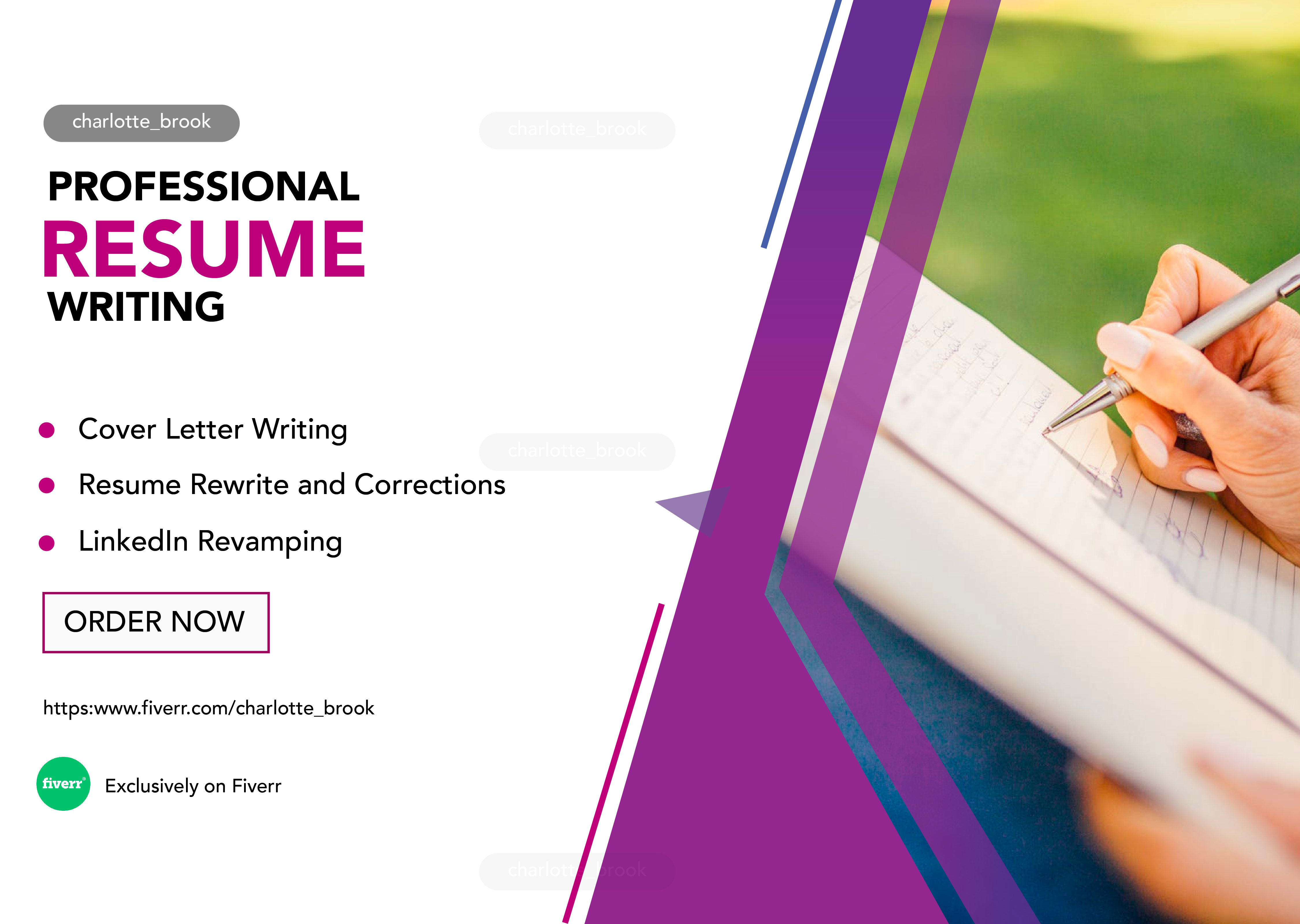 Be Your Professional Resume Writer Linkedin By Charlotte Brook