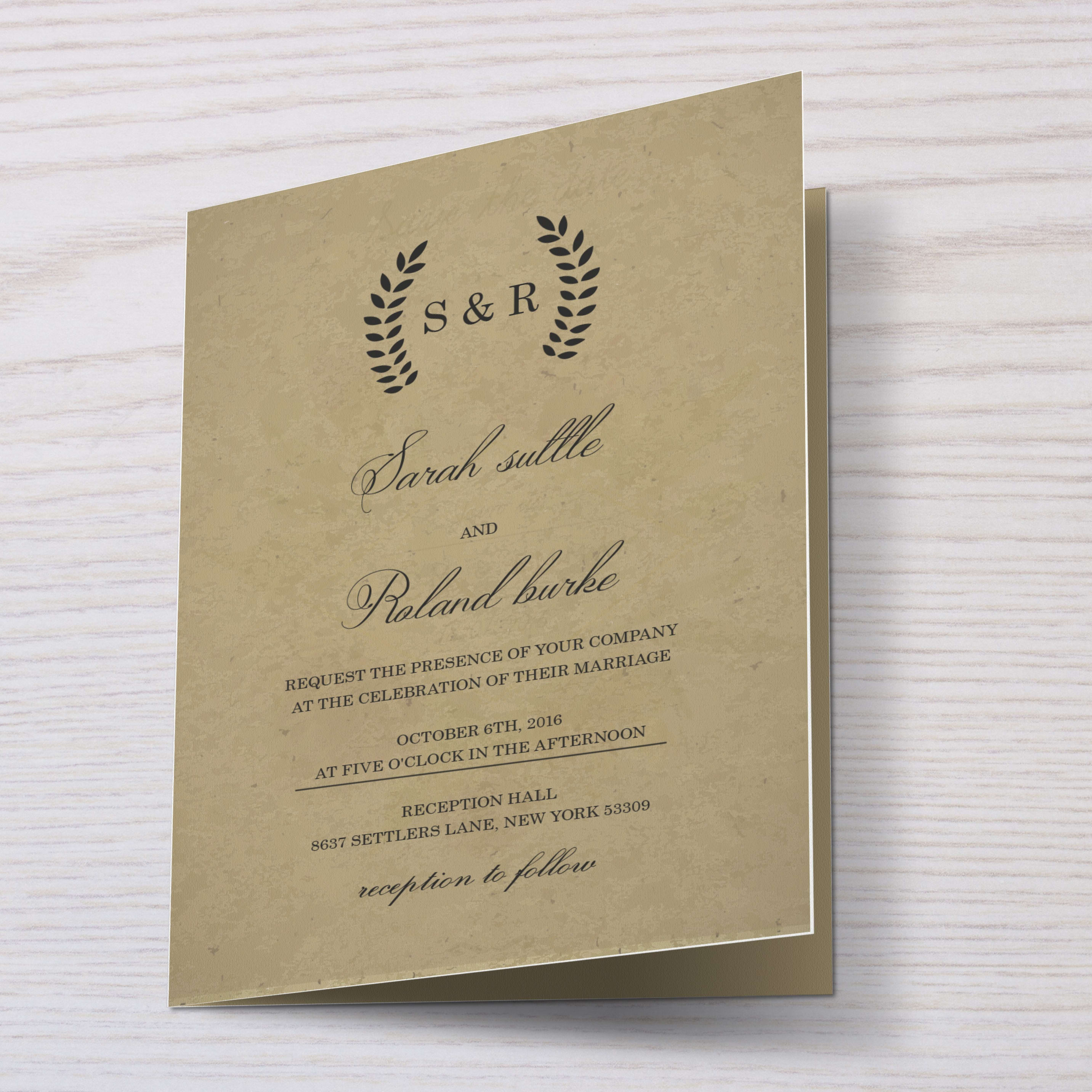 Design your wedding or event invitation card by Blackshovon