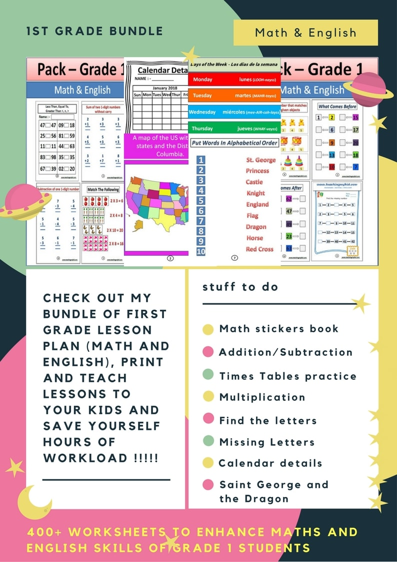 - Give You Math And English 420 Worksheets For 1st Grade Kids By