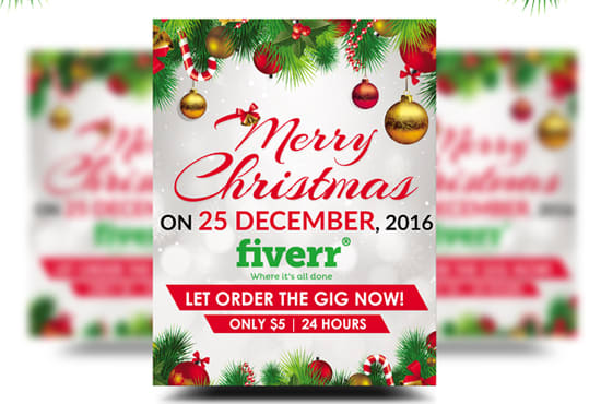 Design Professional Christmas Flyer By Master_design86